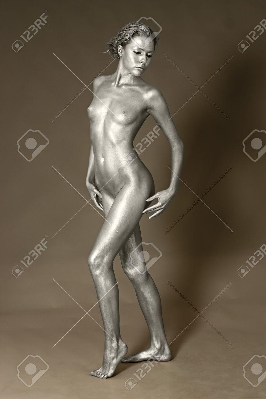 Nude female paint