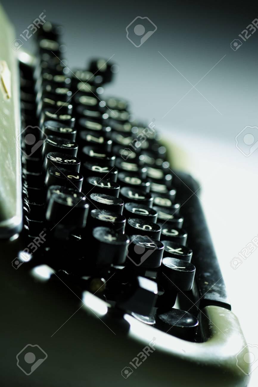 closeup of old typewriter Stock Photo - 326693