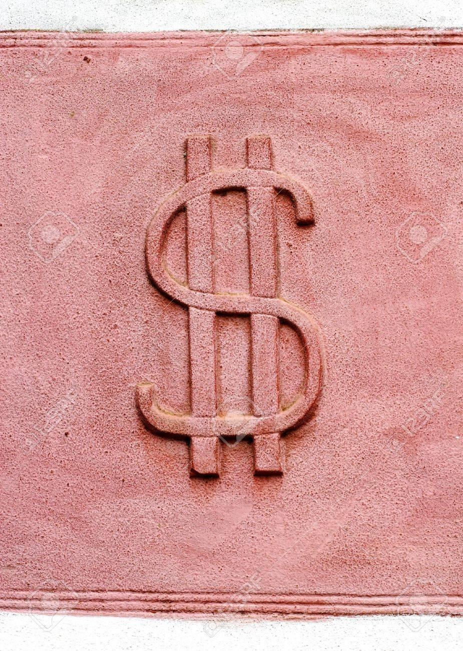 dollar symbol on old wall Stock Photo - 381114
