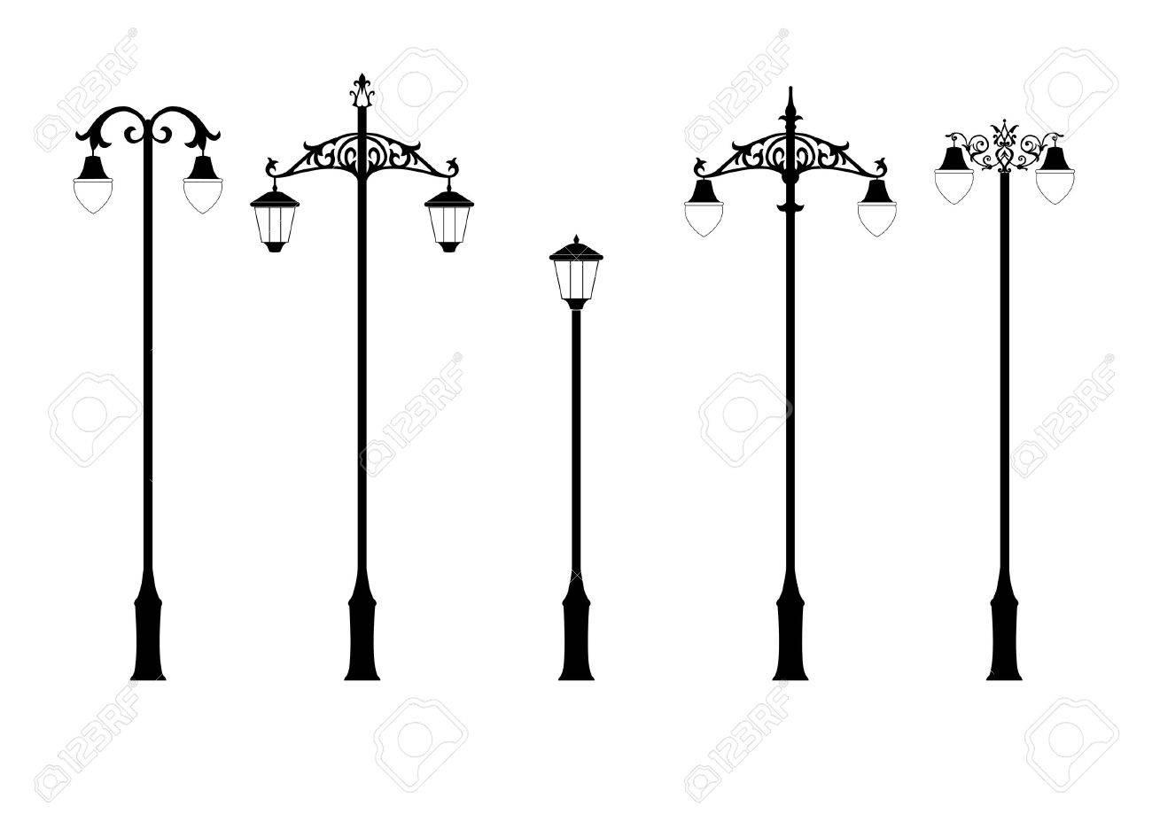 Victorian Lamp Post set of elegant victorian style