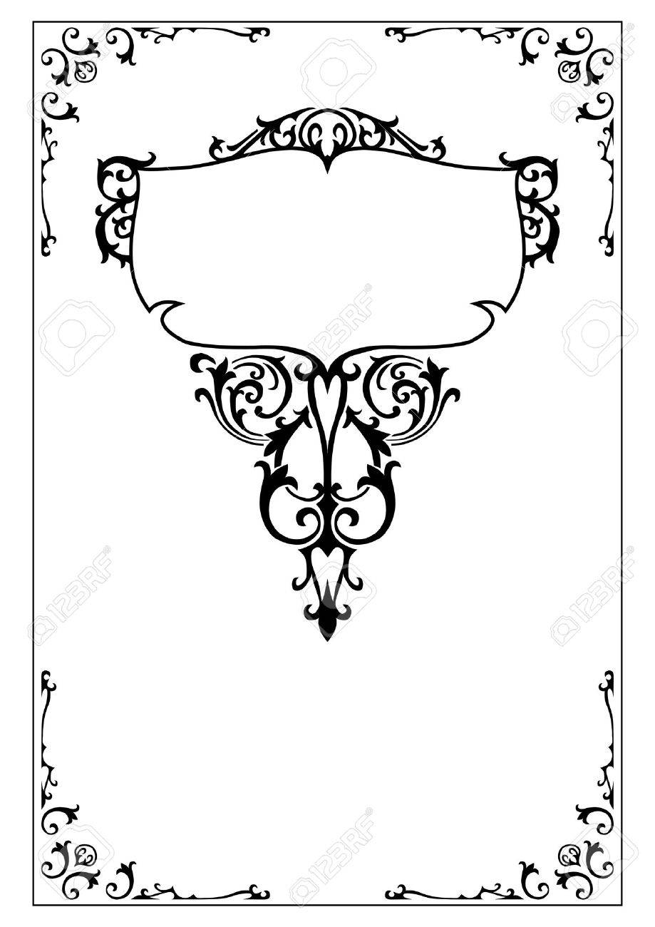 Victorian Design Elements victorian decorative frame and border design elements royalty free