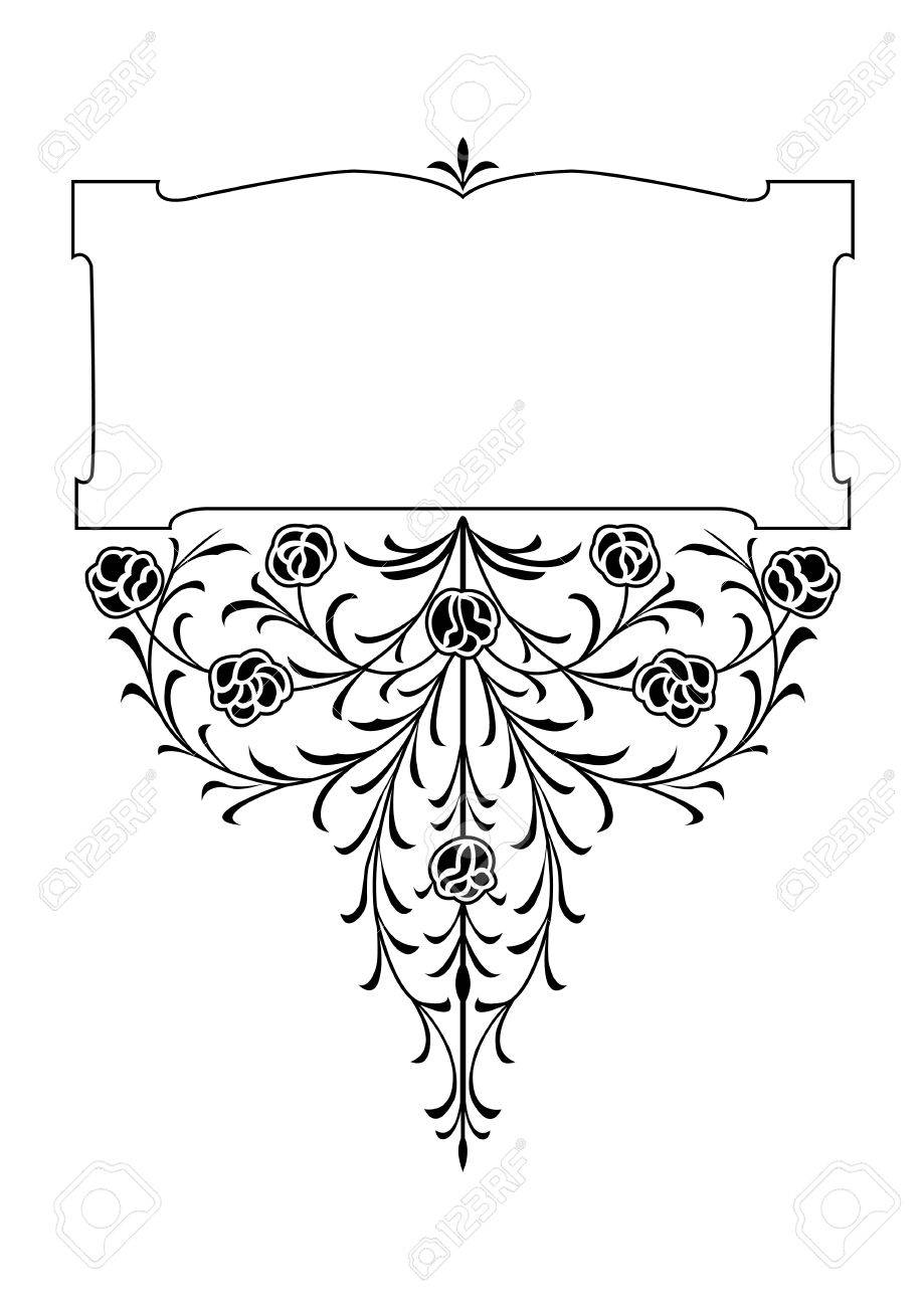 Victorian Design Elements victorian floral decorative design elements royalty free cliparts