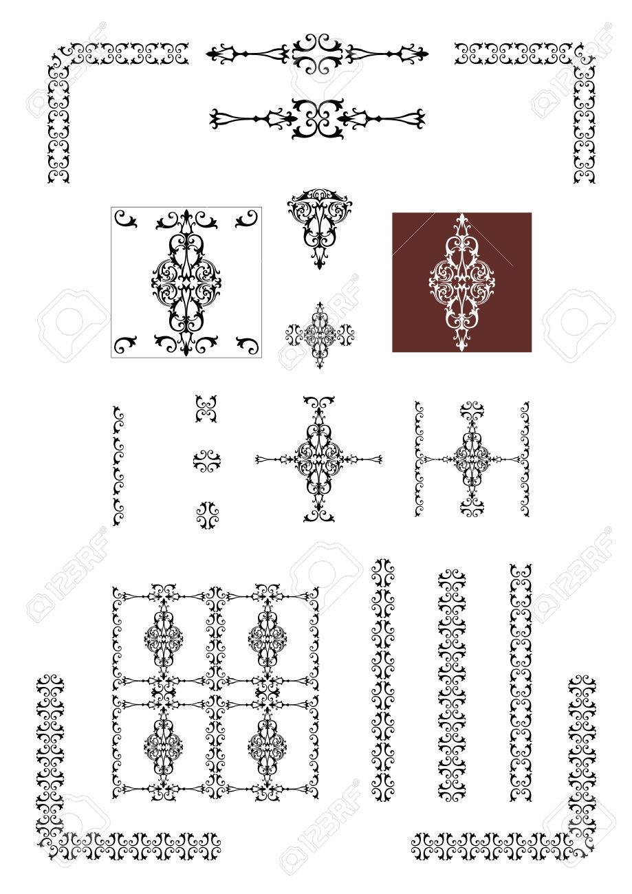 Victorian Design Elements victorian decorative design elements royalty free cliparts