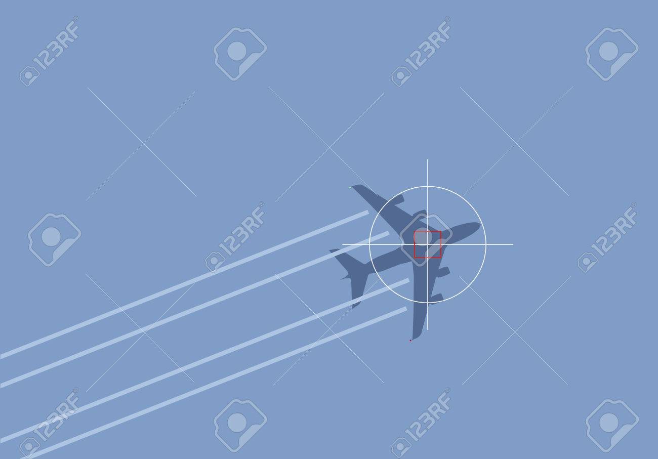 air travel terror threat illustration Stock Vector - 2569361