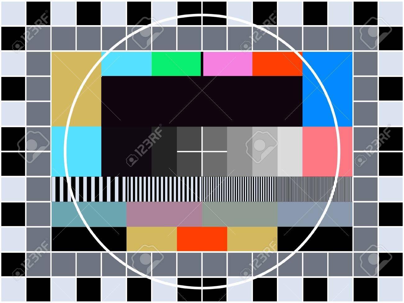 Tv Transmission Carte De Test Pour Le Reglage Et Le Reglage D Une Television Clip Art Libres De Droits Vecteurs Et Illustration Image 2574751