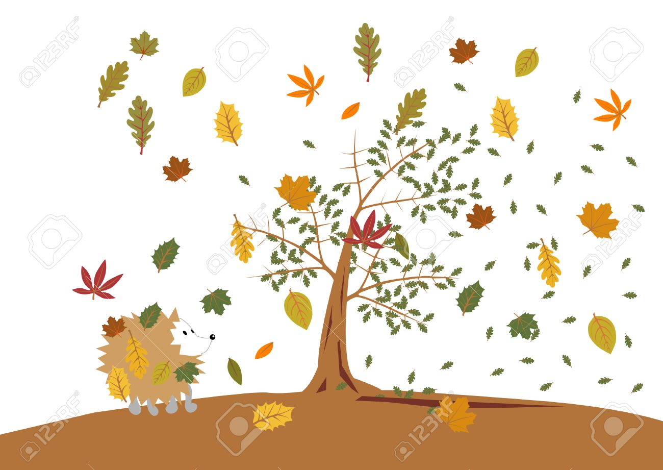 a windy day in the woods Stock Vector - 2574752