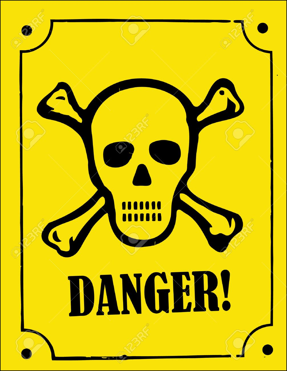 a skull and crossbones danger sign Stock Vector - 3647954