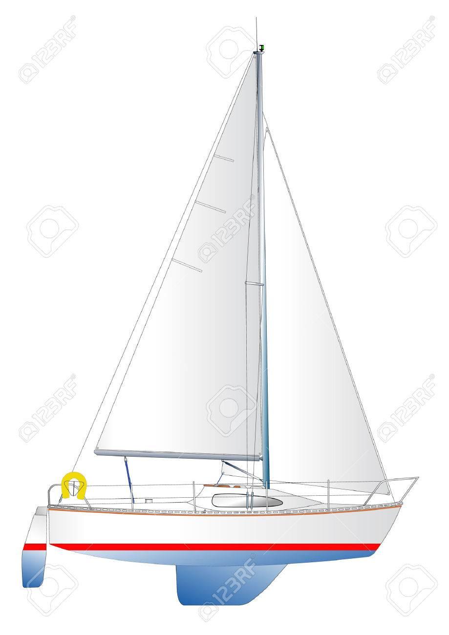 Moderne segelyachten  Beispiel Für Eine Moderne Segelyacht Lizenzfrei Nutzbare ...