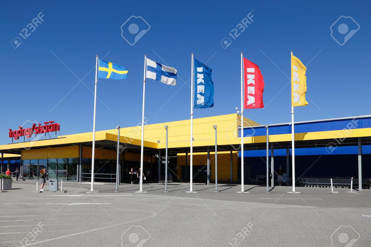 haparanda, schweden - 20. juli 2016: außenansicht des ikea-möbelhaus