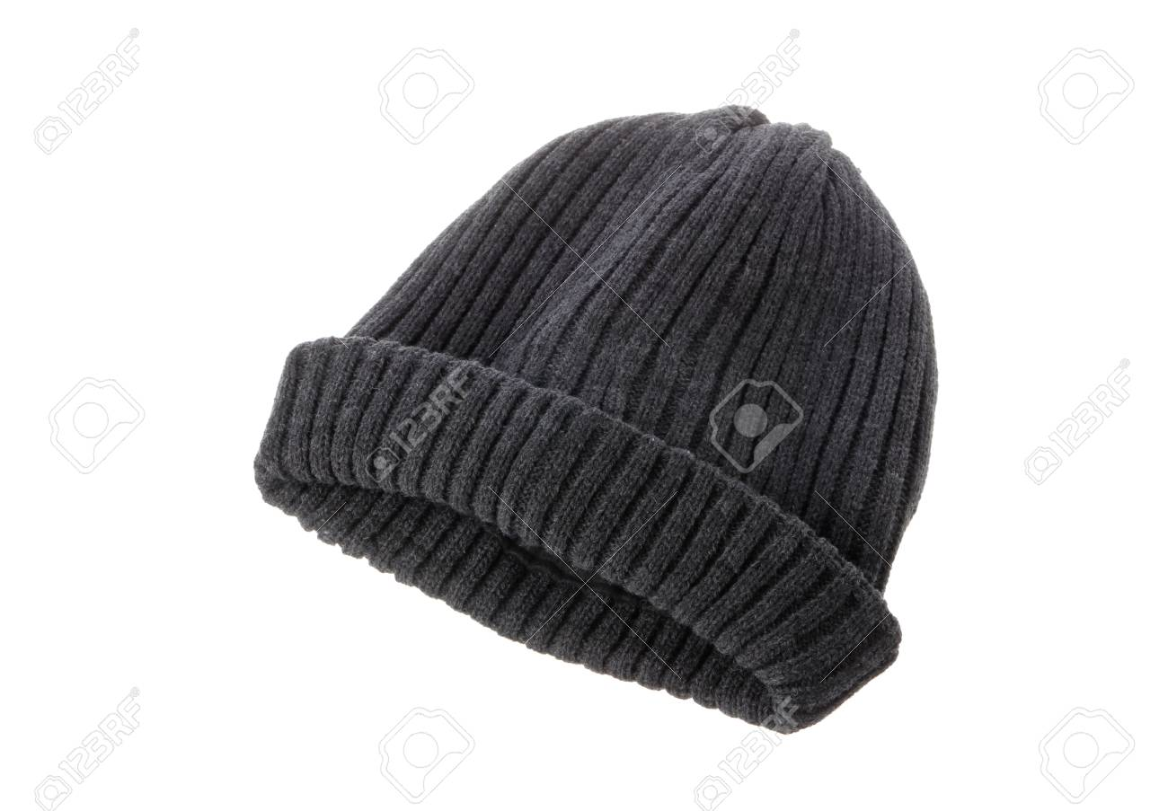 b5b2236e245 A gray beanie isolated on white background. Stock Photo - 90447772