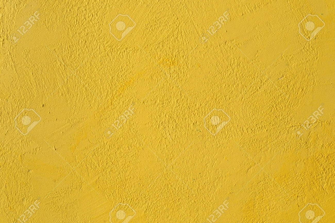 Fragment Of The Yellow Wall With Decorative Plaster Stock Photo ...