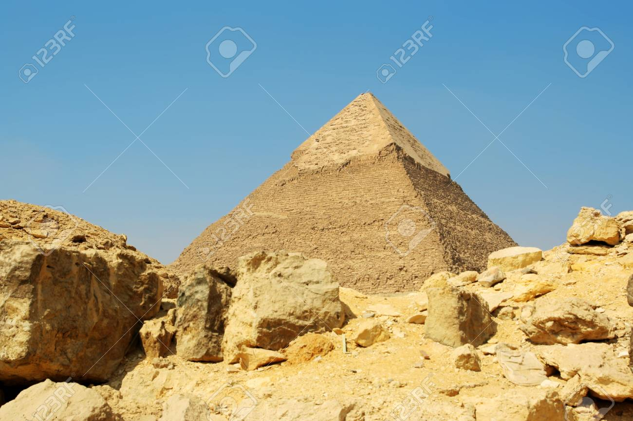 Egyptian pyramid on sky background Stock Photo - 13898183