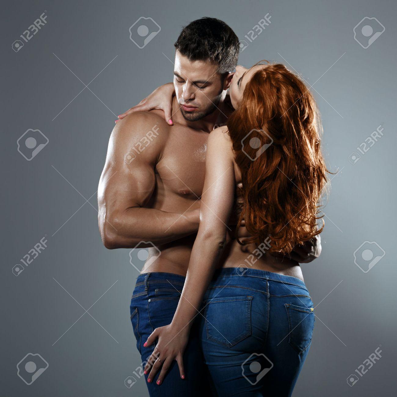 Passionate couple in studio - 48957393