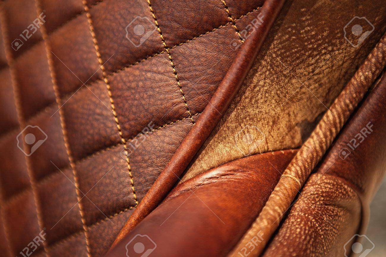 Detail Of A Modern Style Leather Sofa, Macro Stock Photo, Picture ...