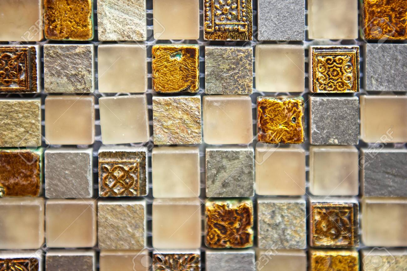 Mosaic Tiles Texture Of Different Colors And Shades Bathroom Stock Photo Picture And Royalty Free Image Image 134543246