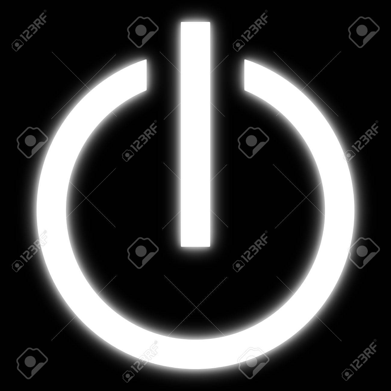 Symbol Eines Ein-Aus-Schalter Von Elektrischen Geräten. Lizenzfreie ...