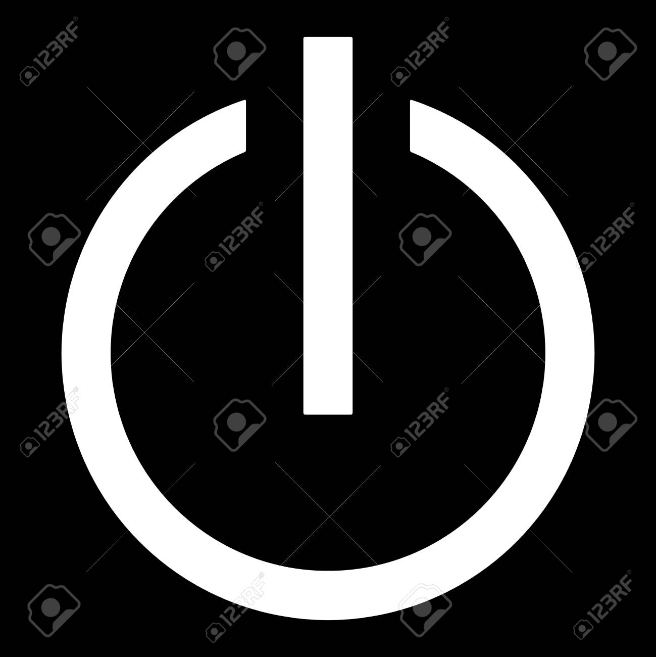 Symbol Of An On-off Switch Of Electrical Equipment. Stock Photo ...