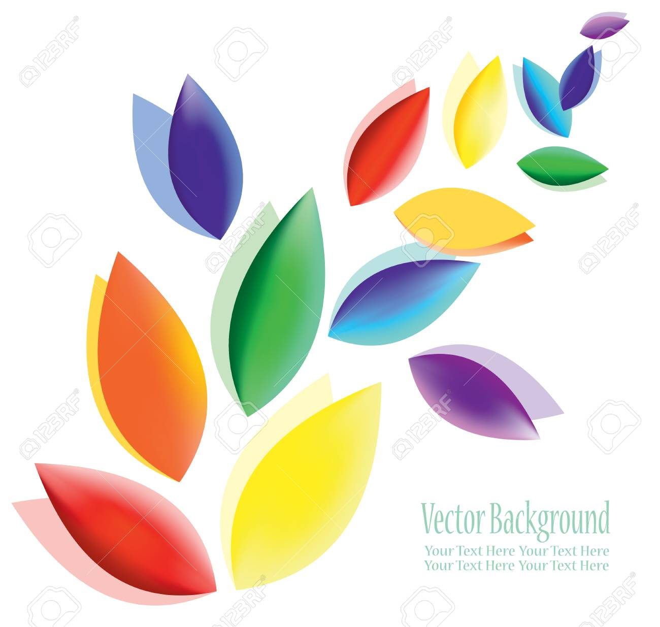 Abstract Colorful Fluttering Petals A Symbol Of Harmony Purity