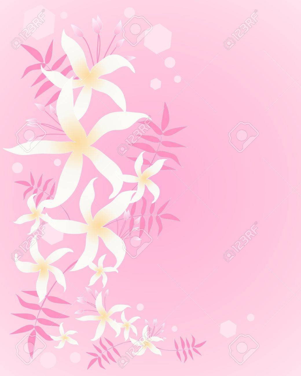 An illustration of an arrangement of abstract jasmine flowers buds an illustration of an arrangement of abstract jasmine flowers buds and foliage in greeting card format izmirmasajfo