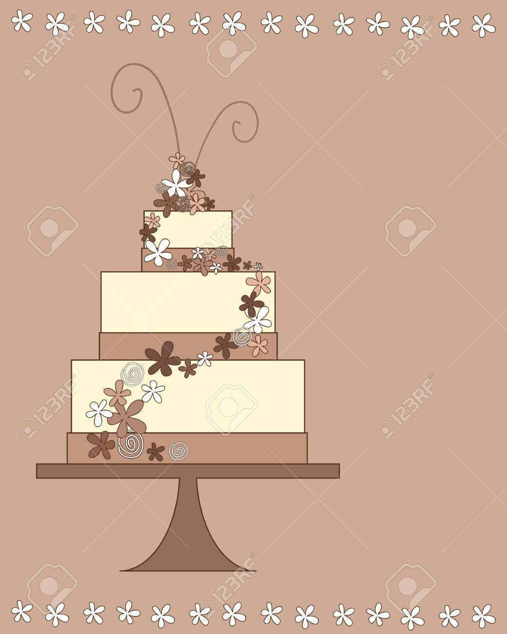 An Illustration Of A Stylized Party Celebration Cake Greeting Royalty Free Cliparts Vectors And Stock Illustration Image 23719021