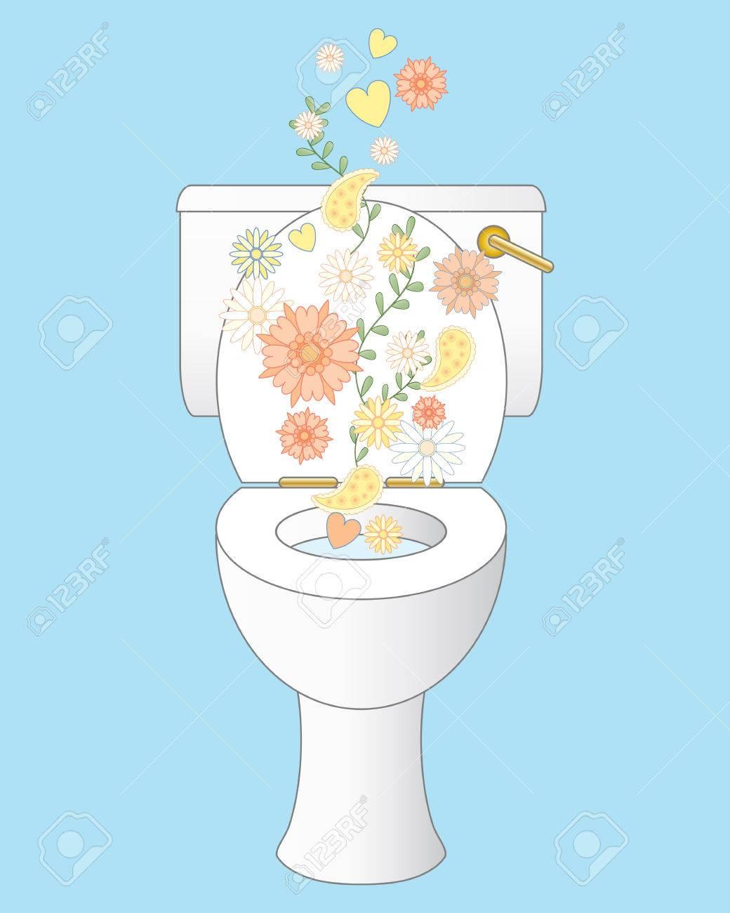 Una Ilustraci N De Un Inodoro De Cer Mica Blanca Y Limpia Con Gas  ~ Como Limpiar El Fondo Del Inodoro