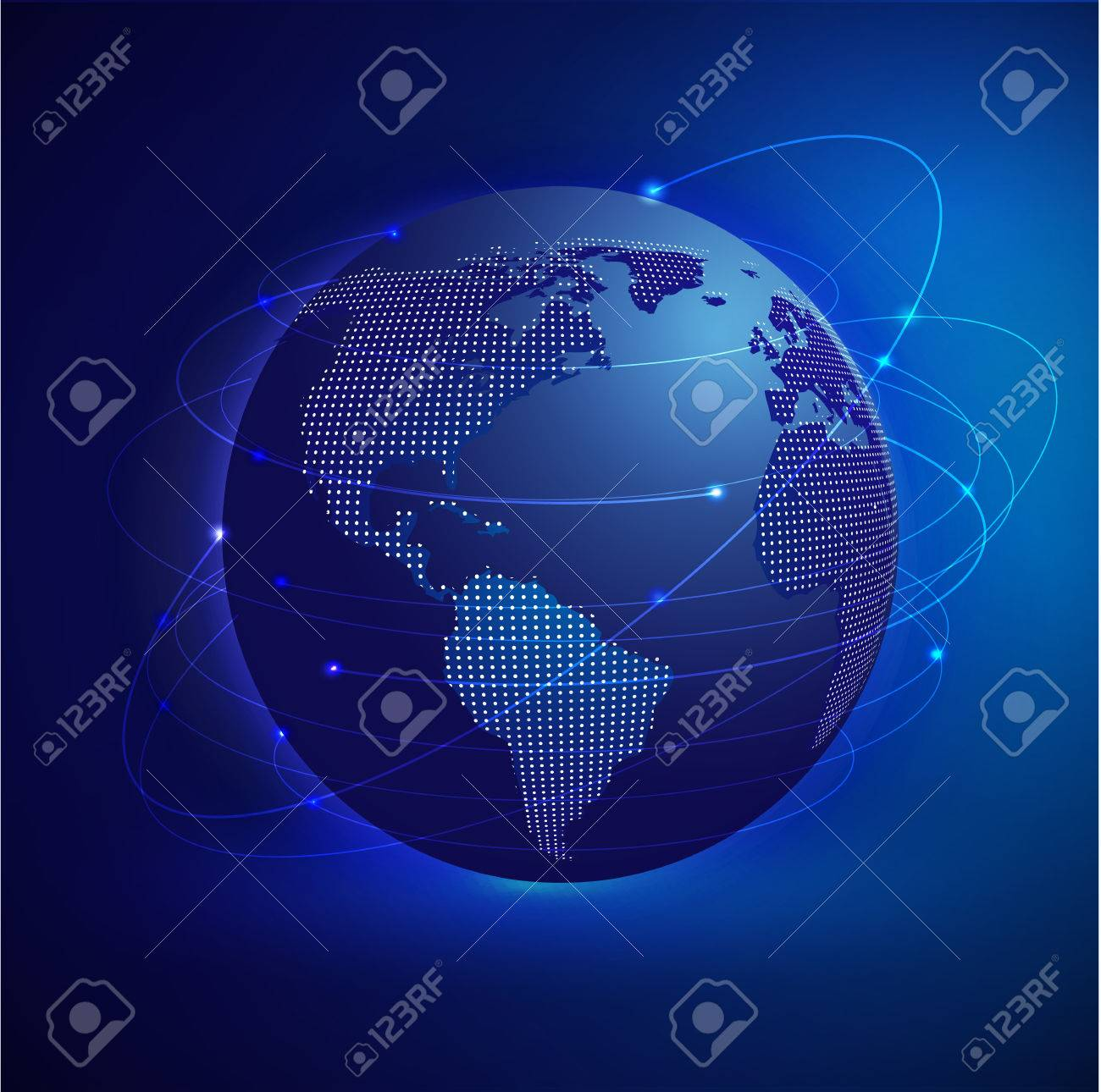 Global network mesh with dot world map vector illustration royalty global network mesh with dot world map vector illustration stock vector 27198525 gumiabroncs Image collections