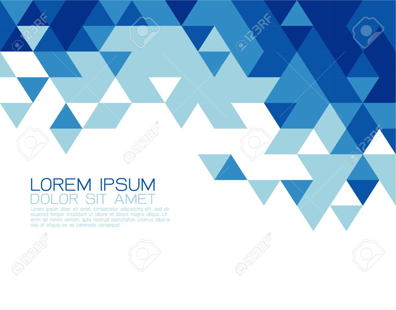 Abstract blue triangle modern template for business or technology presentation, vector illustration Stock Vector - 43199271