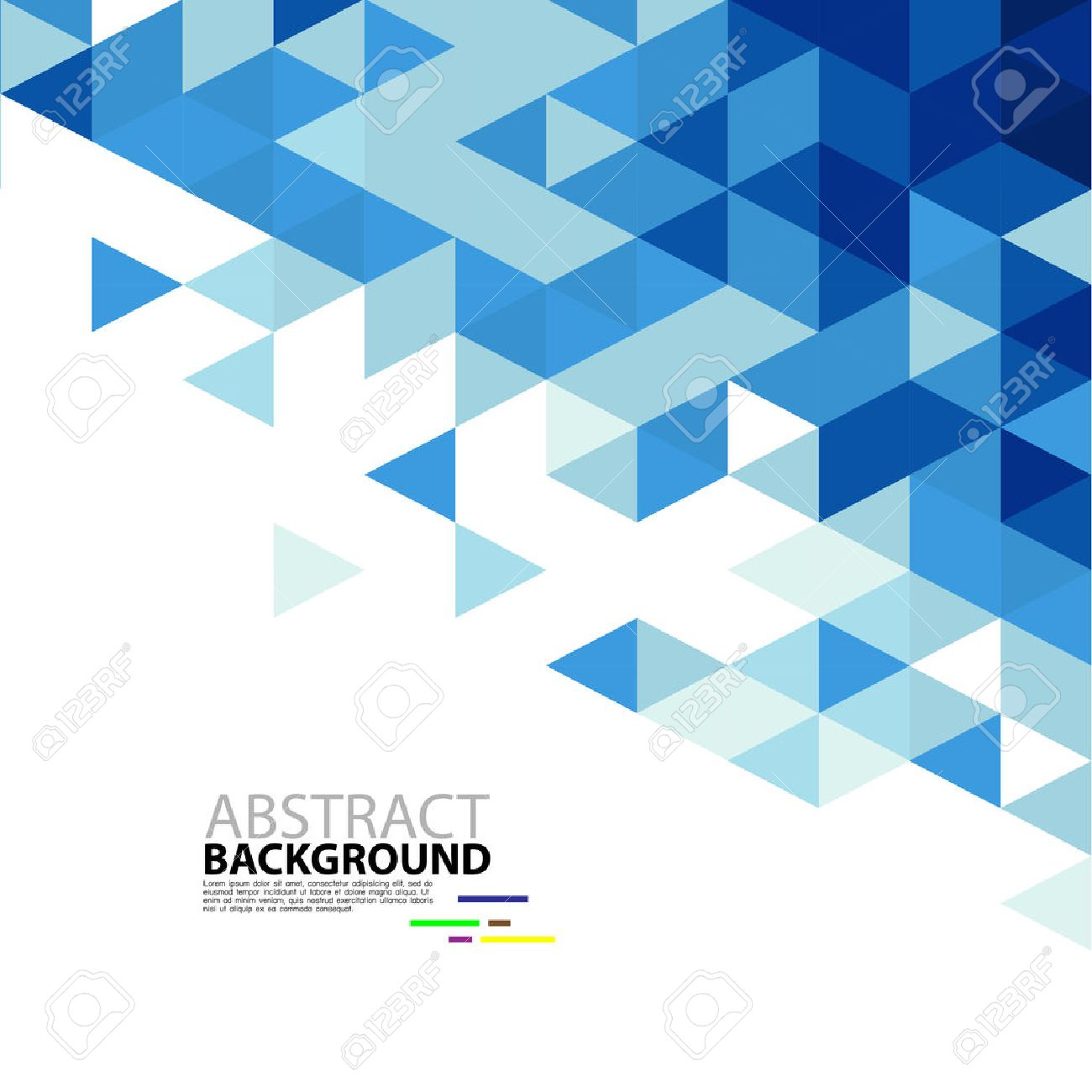 abstract blue triangle modern template for business or technology