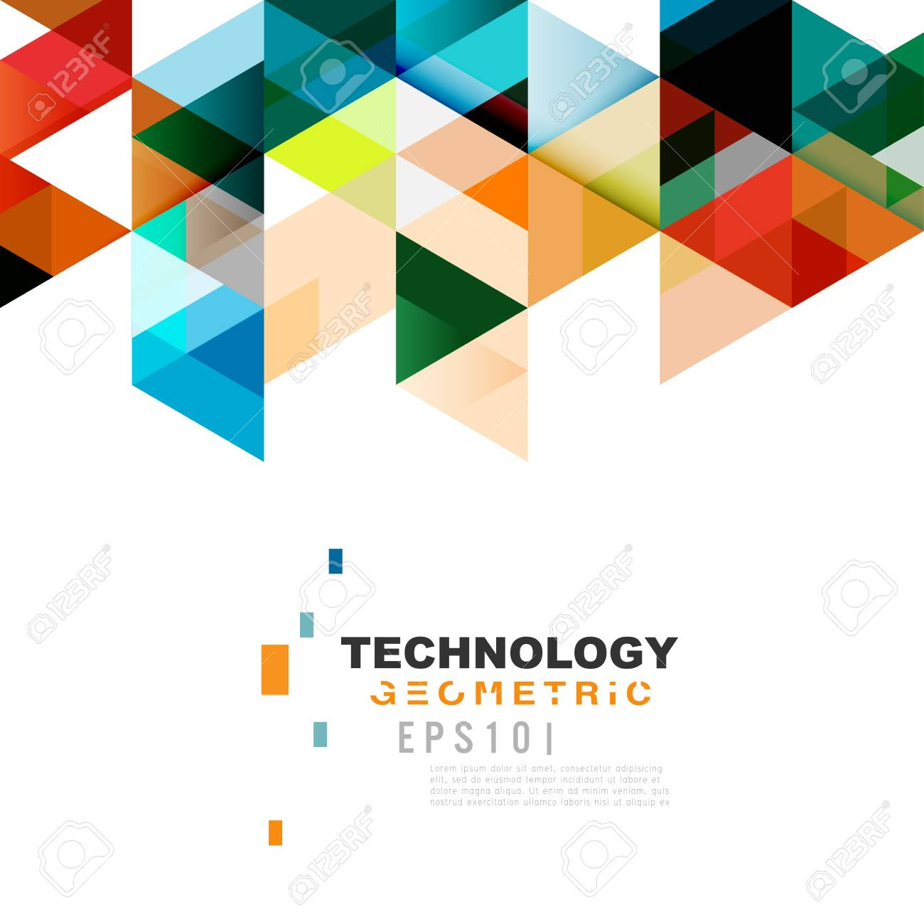 colorful geometric modern template for business or technology, Presentation Abstract Template, Presentation templates
