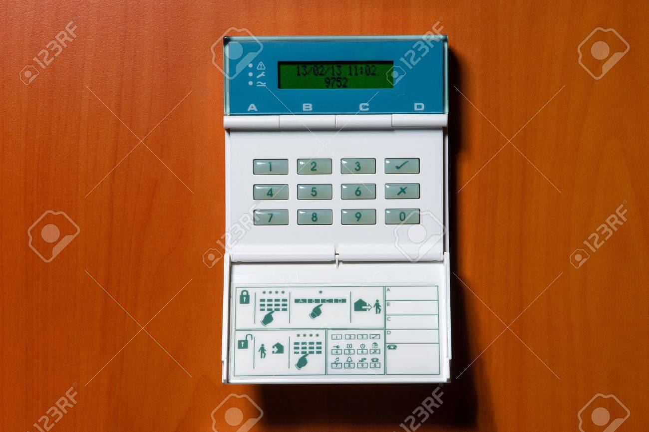 touchpanel to activate the electronic alarm system Stock Photo - 17945354