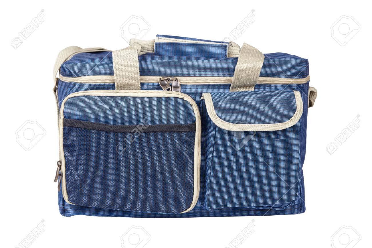 Kühlschrank Camping : Blau thermotasche portable kühlschrank für camping lizenzfreie