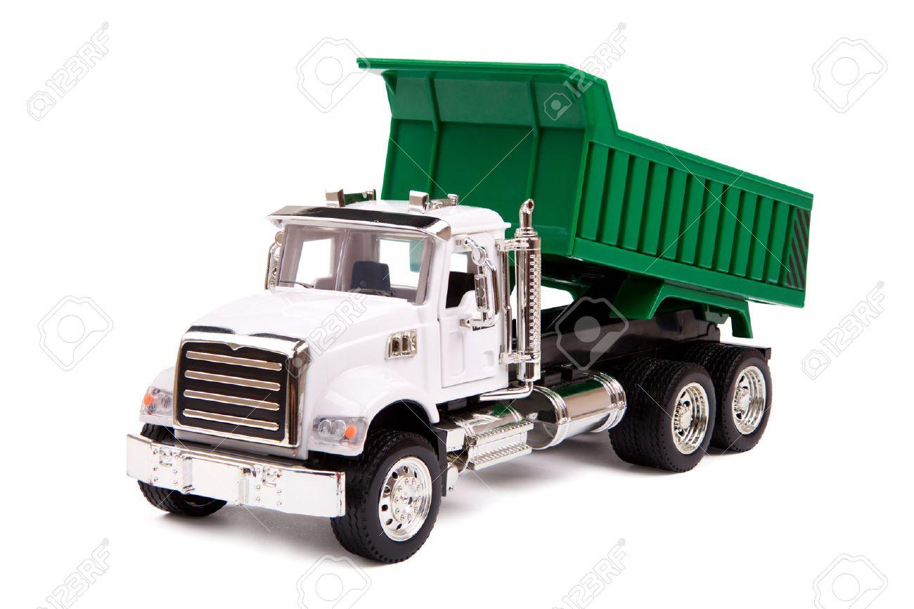 dump truck toy toy truck dump truck on white background - Toy Dump Trucks