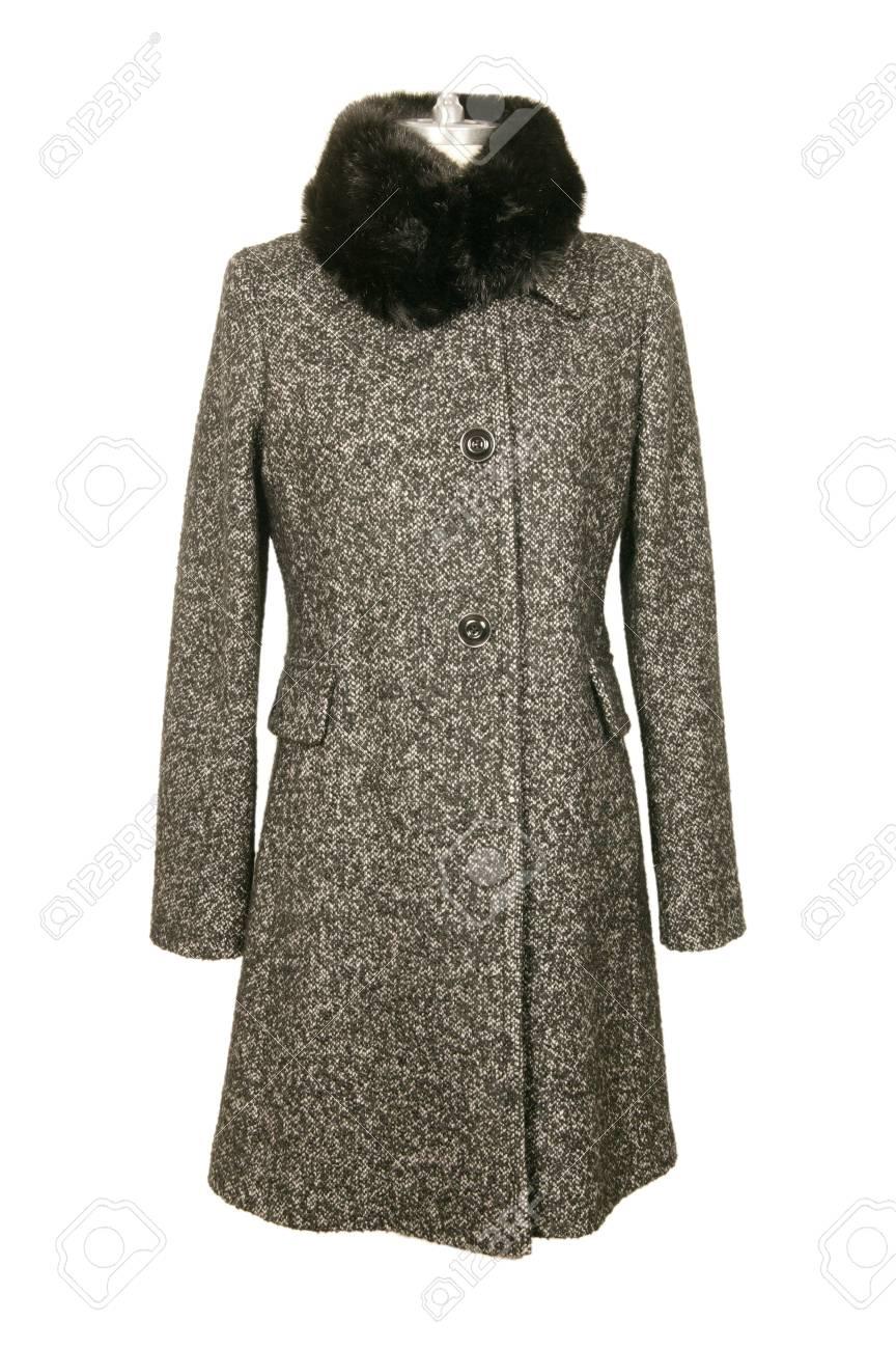 8334be3742e Foto de archivo - Mujer maniquí con ropa de invierno. Chaquetas de invierno  para mujer