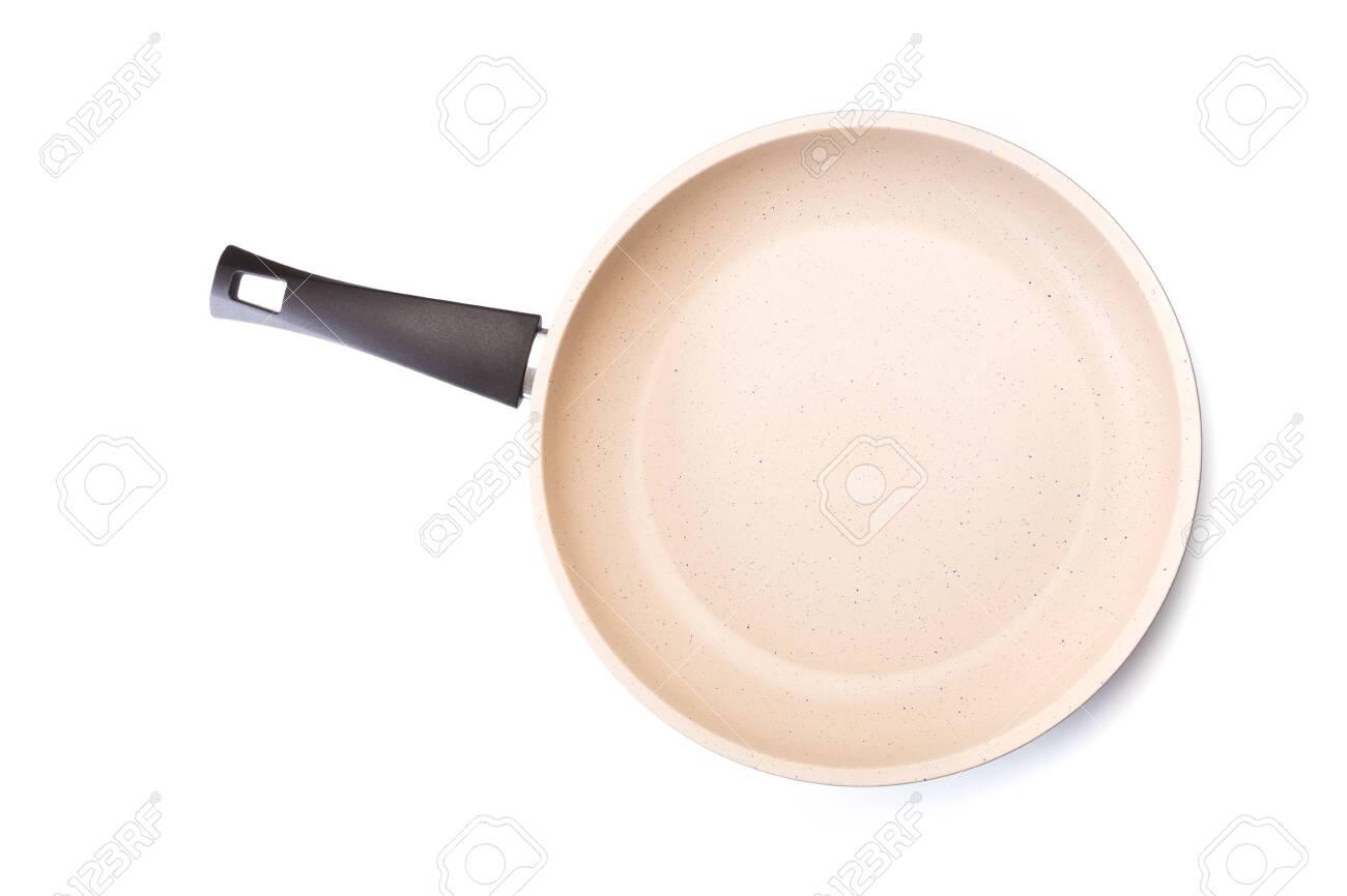 Fry Pan Ceramic Coating in White background - Image - 126631904