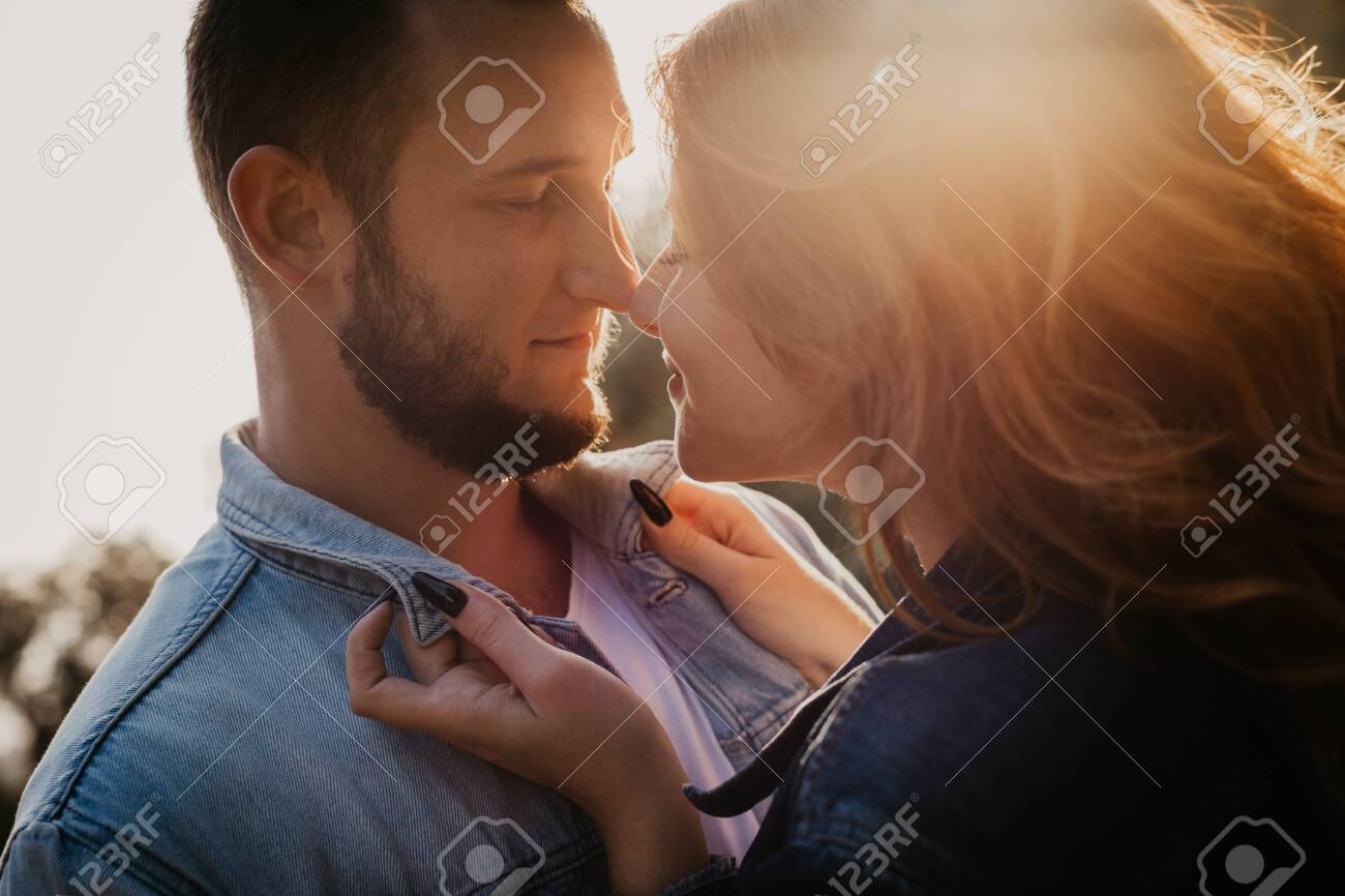 Happy loving couple outdoor in park - Image - 129608650