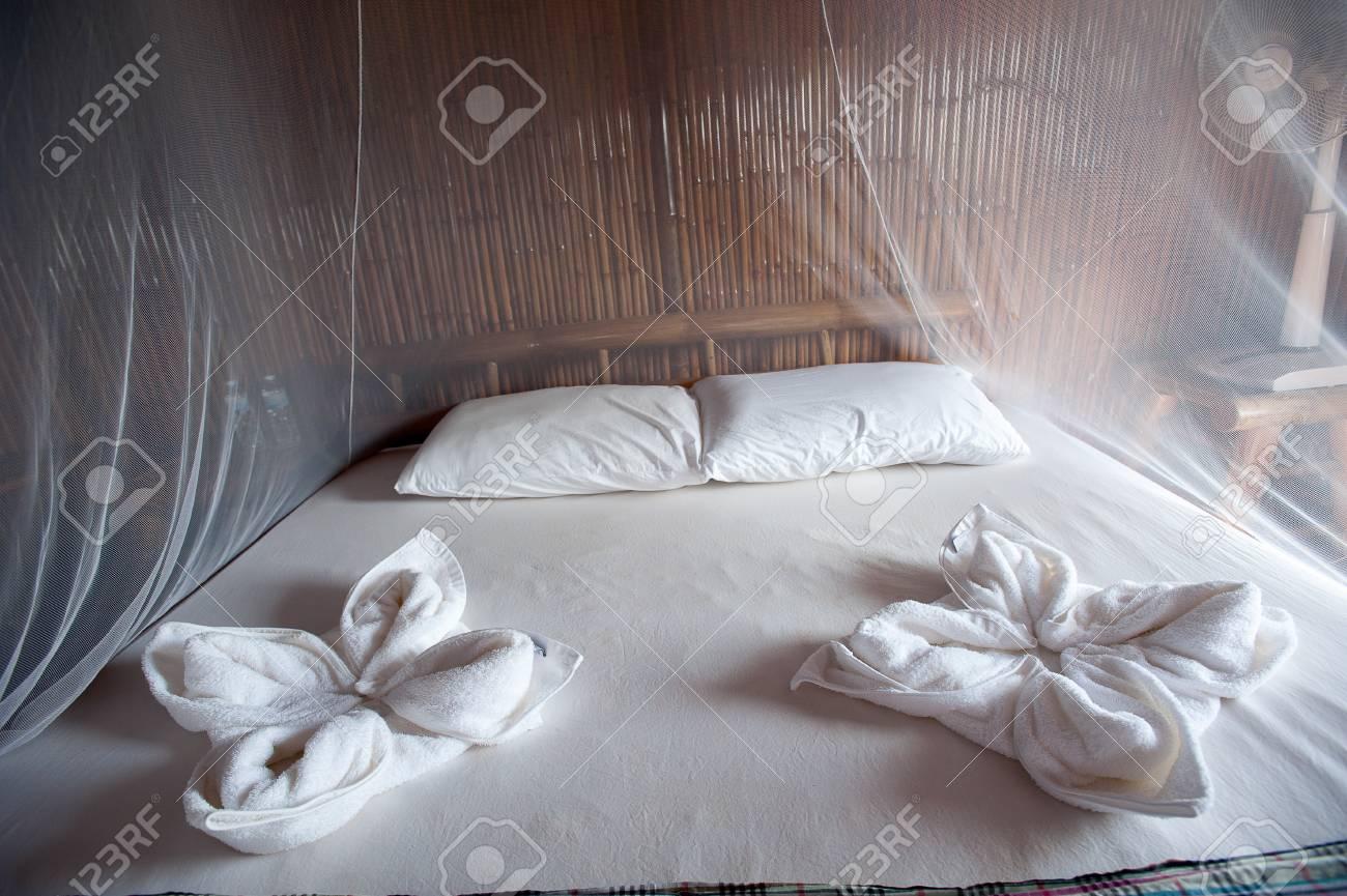 Camere Da Letto Con Letto A Baldacchino : Camera da letto in stile rurale con letto a baldacchino bambù