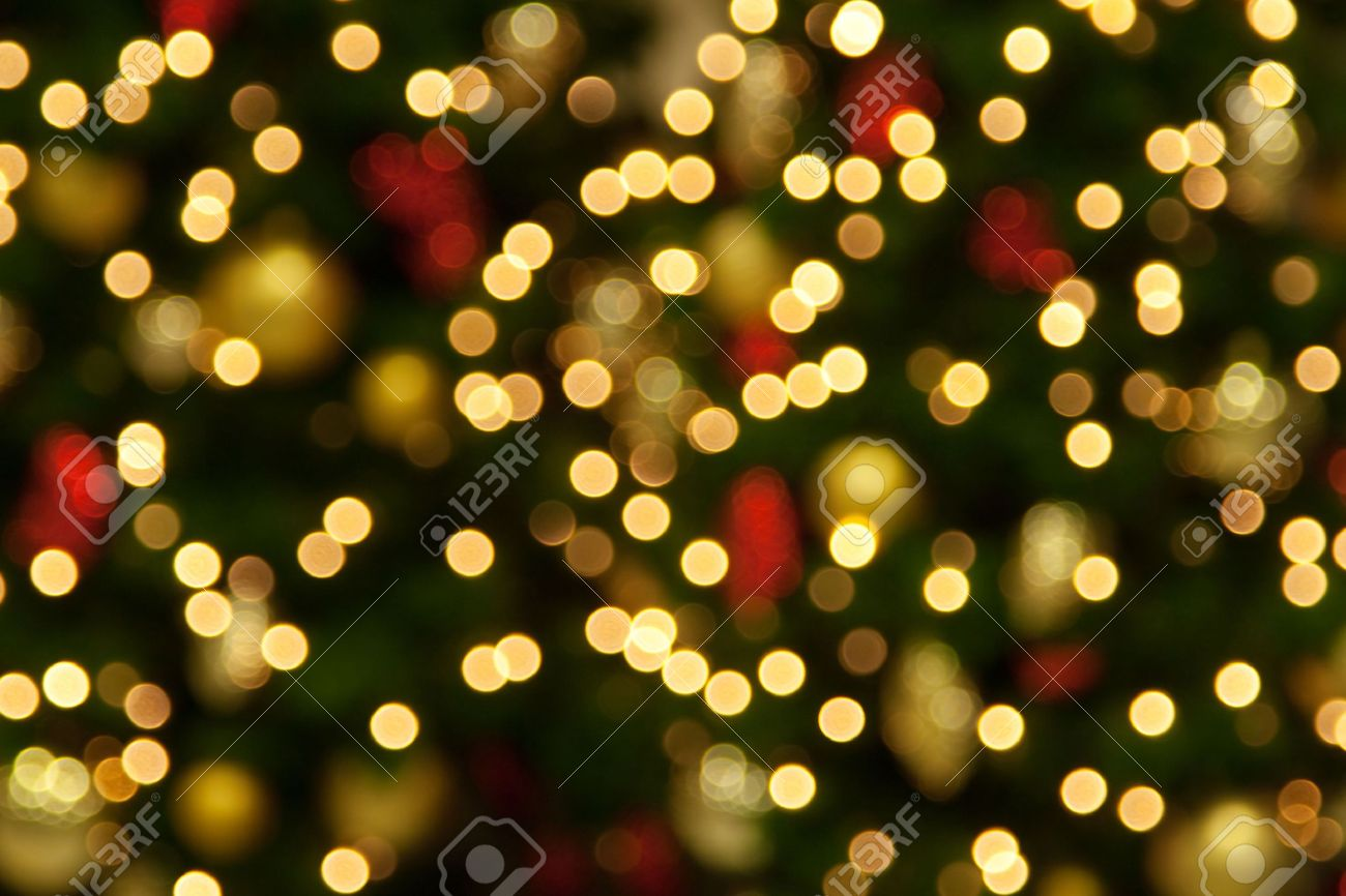 Background Of Blurred Christmas Lights