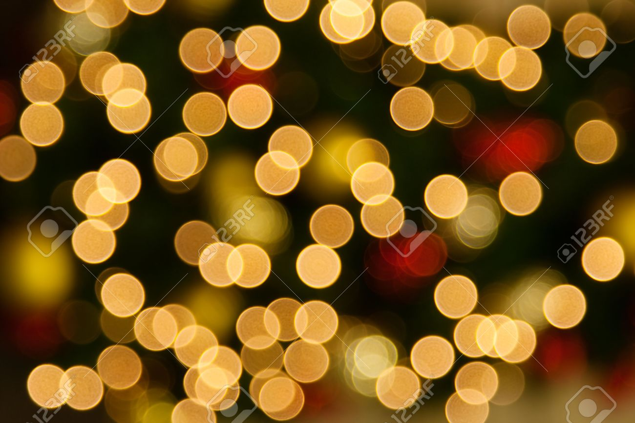 Background Of Blurred Christmas Lights Stock Photo, Picture And ...