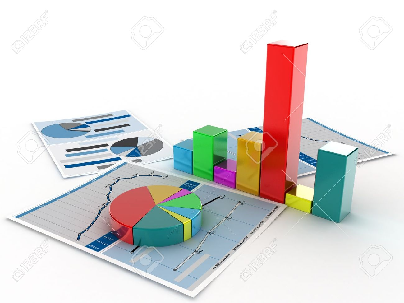 the diagramme which shows the statistical data stock photo picture
