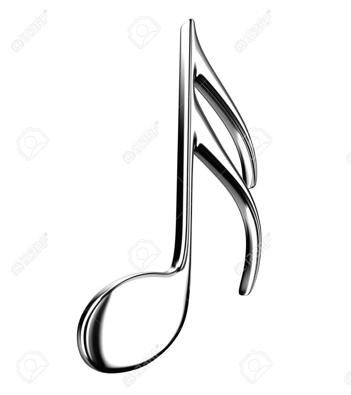 Illustration of the silver note on a white background Stock Photo - 12853441