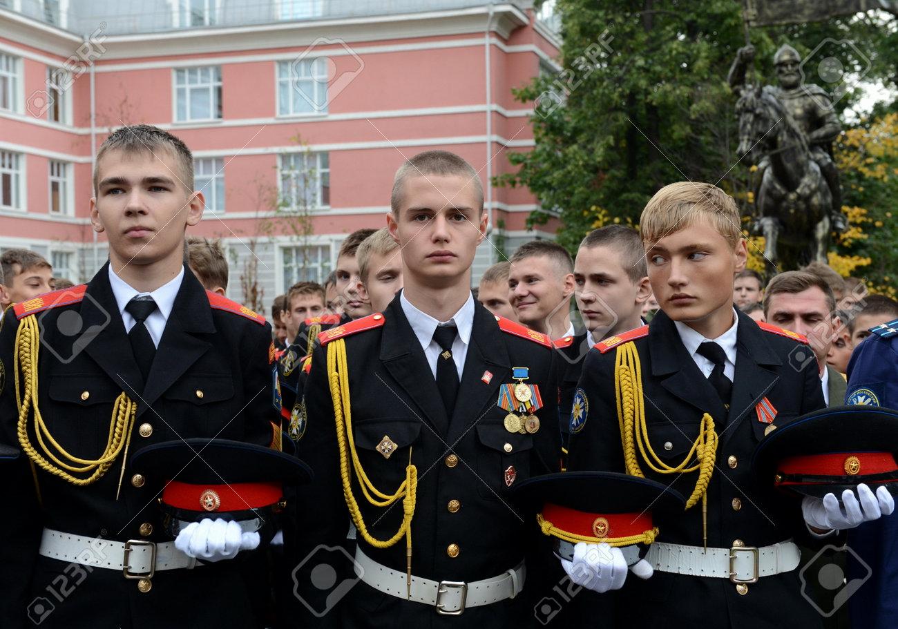 最初モスクワの士官候補生隊の士官候補生。 の写真素材・画像素材 ...