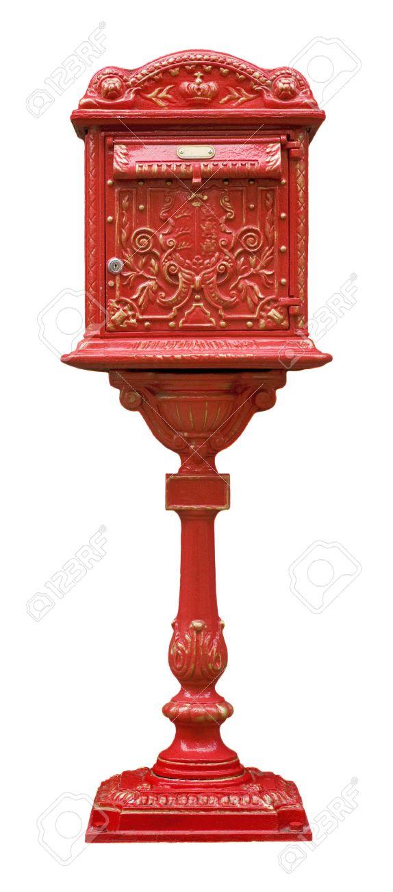 Fonte Ancienne Boite Aux Lettres Rouge Banque D Images Et Photos