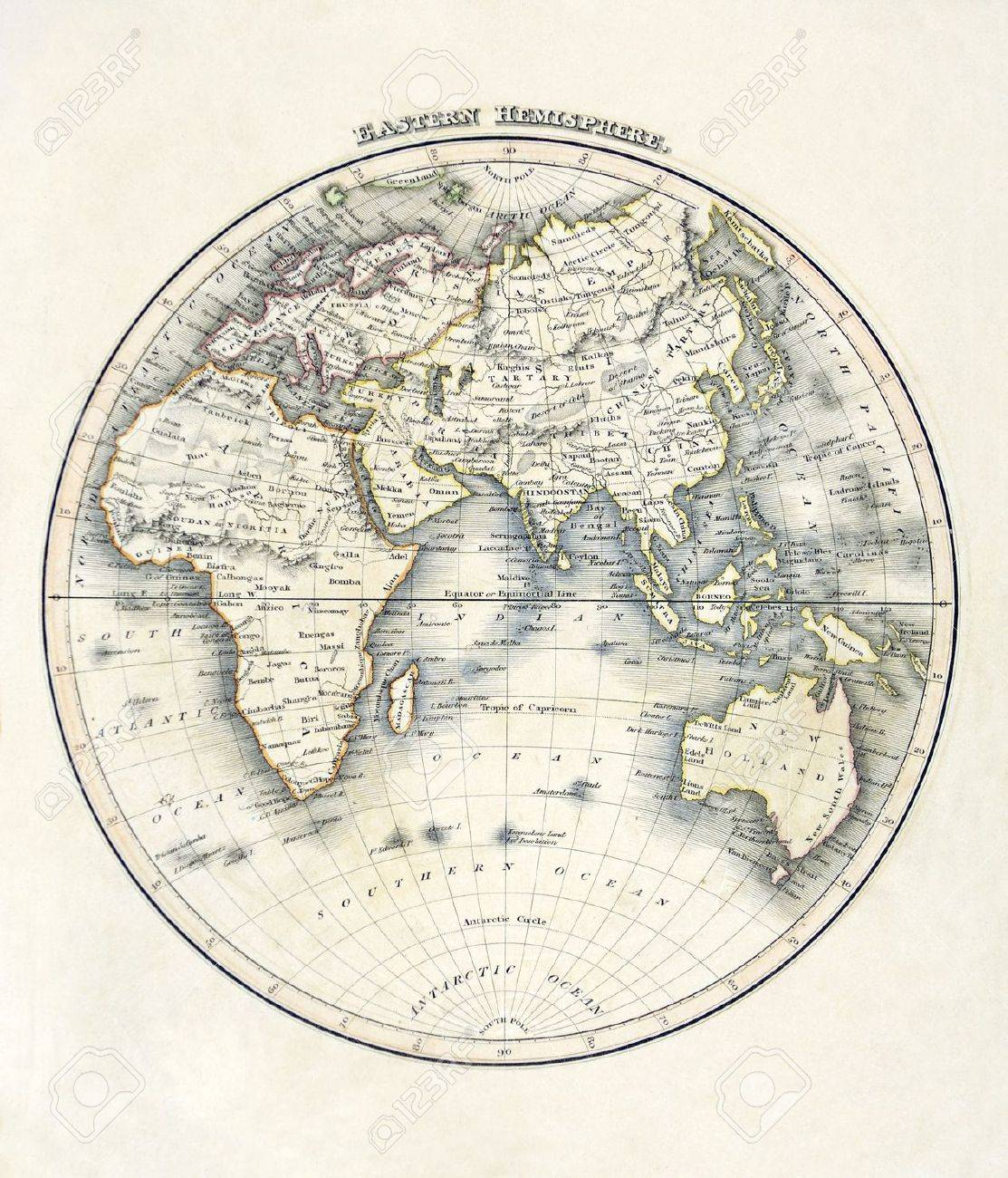 Map Of Asia Australia.Map Of The World Showing Africa Asia Australia South Pole