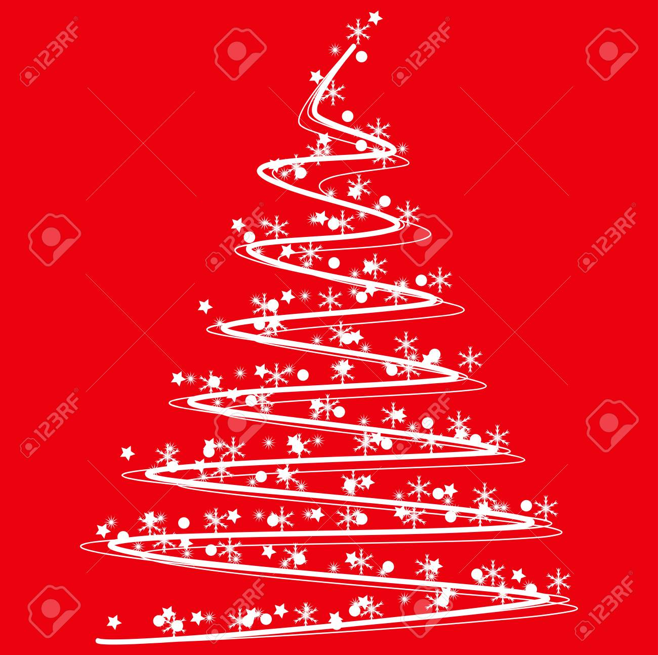 Weihnachtsbaum Rot.Stock Photo