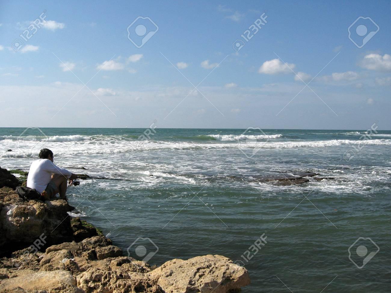 Fisherman and sea Stock Photo - 1195154