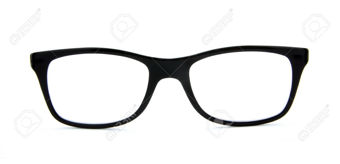 Schwarze Brille Rahmen Auf Weißem Hintergrund Isoliert Lizenzfreie ...