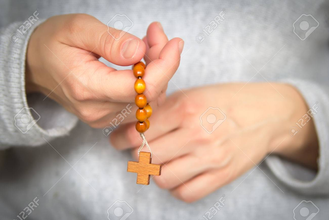 Hands With Rosary Beads Prayer