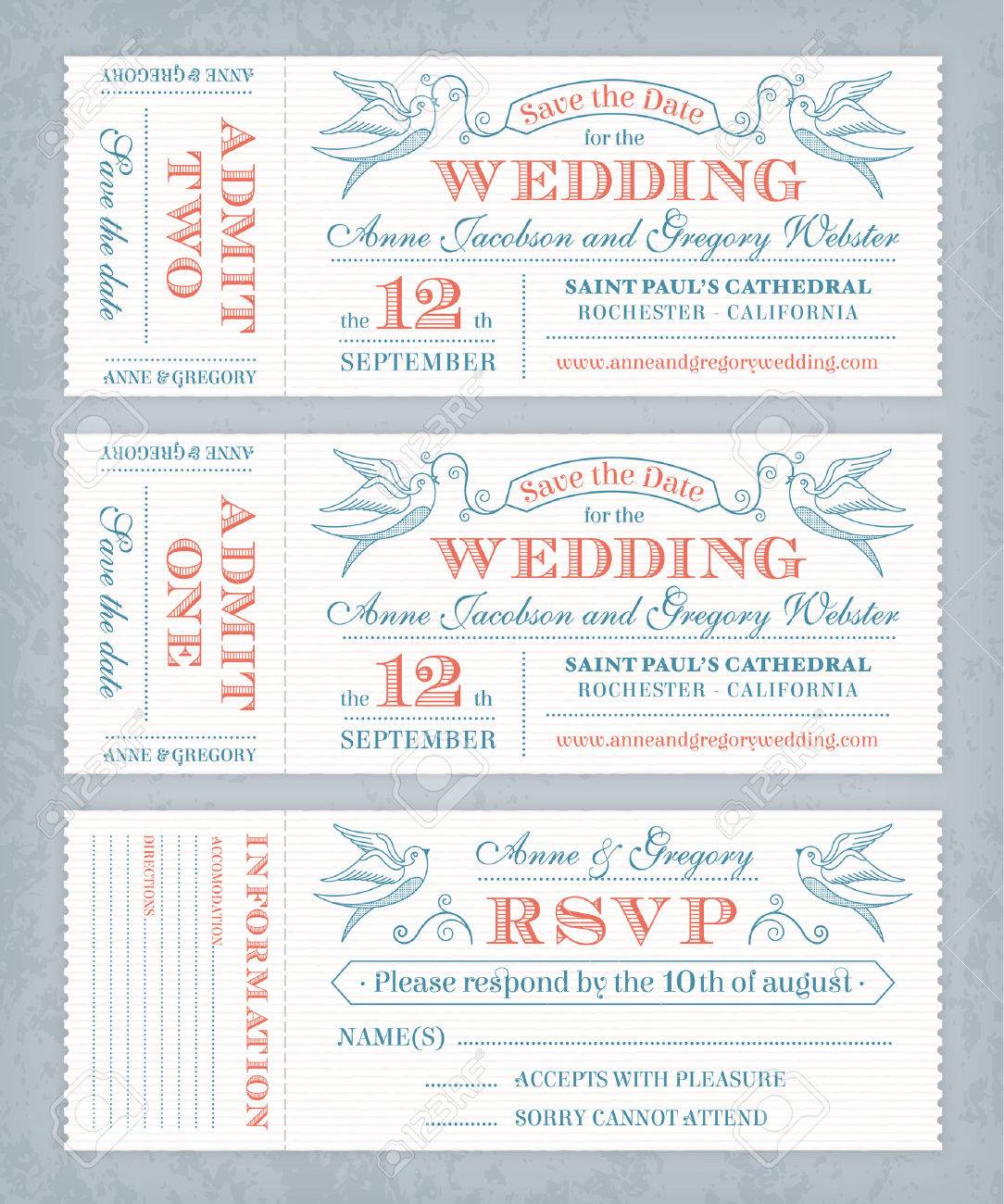 2 345 raffle ticket stock vector illustration and royalty raffle ticket 3 hi detail vector grunge tickets for wedding invitations and save the date