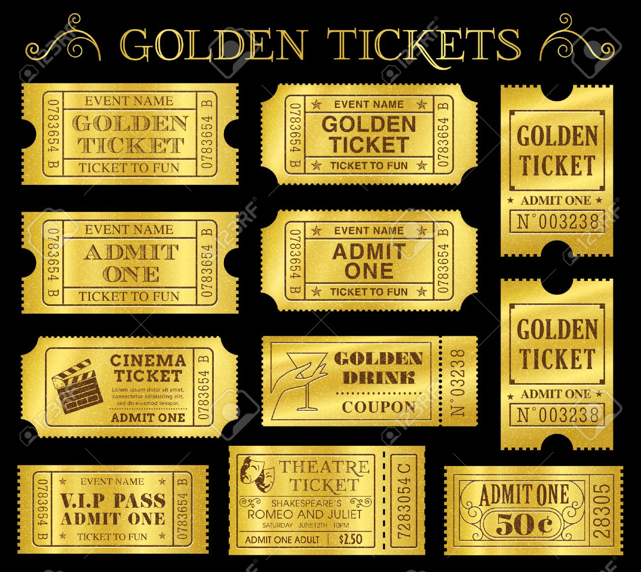 templates tickets