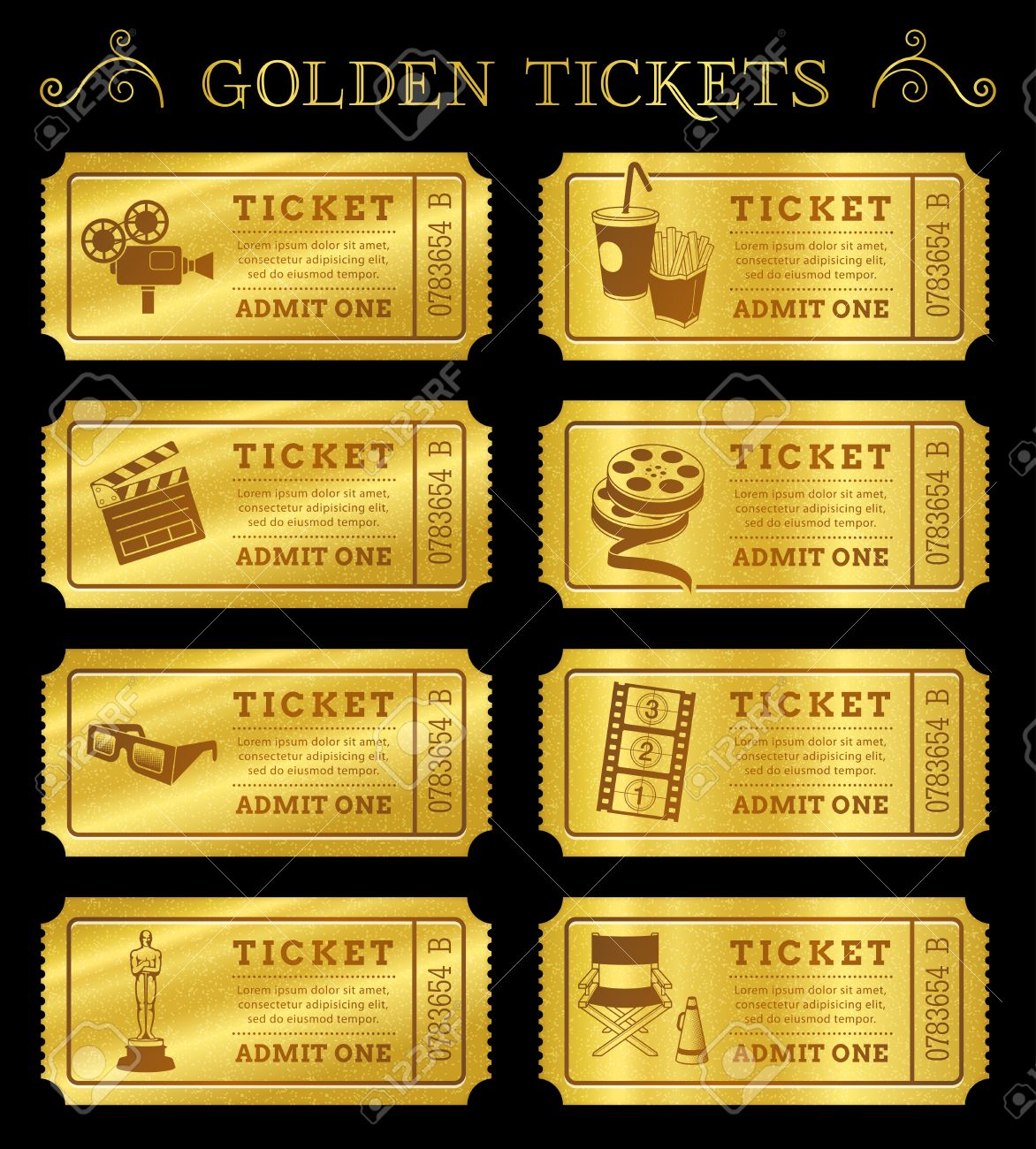 8373 Movie Ticket Illustrations Cliparts And Royalty Free – Theater Ticket Template